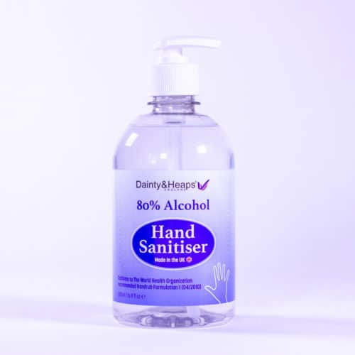 Dainty & Heaps 500ml 80% Alcohol Hand Sanitiser